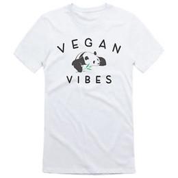 Canada Vegan Vibes Panda T Shirt Womens Mens Healthy végétalien végétarien végétarien végétarien cheap pandas food Offre