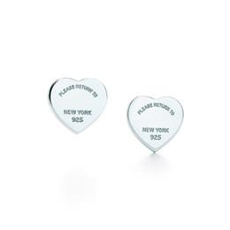 Brincos de coração esterlina on-line-NOVA Alta qualidade 100% Real 925 Sterling Silver Coração Brinco Mulheres Brincos de Presente de Casamento Da Moda de Luxo