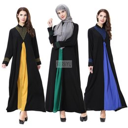 dresses singapore Coupons - Noble Elegant Muslimah Computer Embroidery abaya Turkish Singapore full length Jilbab Dubai female Muslim Islamic dress