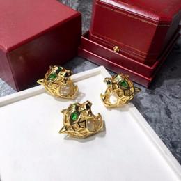 2019 обручальные кольца с бриллиантами Бренд мода личность леопарда глава кольца из нержавеющей стали золото полые Картер любовь кольца для женщин ювелирные изделия анти аллергия D19011502