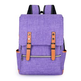 canvas backpack wholesale for men Coupons - 40*30*12CM canvas bag nylon For Men&women 16inch Unisex school bag portable hiking rucksack Satchel Waterproof Fashion Travel Leisure pack