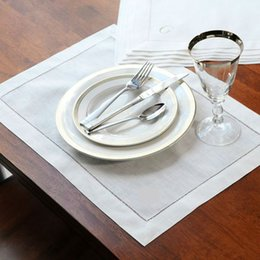 Servilletas de tela online-12 piezas servilletas de lino dobladas servilleta de cóctel servilletas de tela natural servilletas de tela servilletas decoración de la mesa del partido