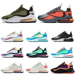 2020 Nike Air Max 270 React Schuhe BAUHAUS HYPER JADE orange grau OPTICAL Art und Weise Menstrainer atmungsaktiv Sportturnschuh 36 47 Laufen
