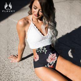 2019 häkeln einen stück badeanzug Sexy Damen Weiß Crochet Bademode Frauen Badeanzug Weiblich Ausgeschnitten Blumen Hohe Taille Schwimmen Badeanzug Monokini Trikini günstig häkeln einen stück badeanzug