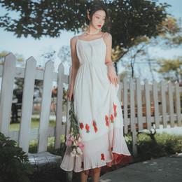 443e74de54 vestido de color albaricoque Rebajas Ropa de mujer de verano vestido  coloreado albaricoque correa vestido sin