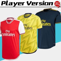 Versão do jogador de futebol on-line-Fardas de Futebol 2020 Versão Jogador Artilheiro Início Red Futebol 19/20 Homens afastado amarelo camisas de futebol personalizado em venda