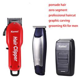 Haarschnitt-werkzeuge online-Kemei Professional Hair Clipper Elektro Cordless Männer Haar Bartschneider Friseur Haircut Maschine Styling Werkzeuge für Pomade HairMX190820