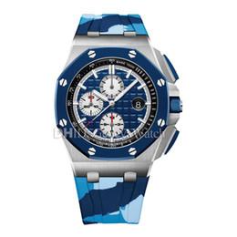 2019 Yeni Lüks İzle Erkek Tasarımcı Saatler 26400 SO.OO. cheap watches chronograph blue dial nereden saat kronograf mavi kadran tedarikçiler