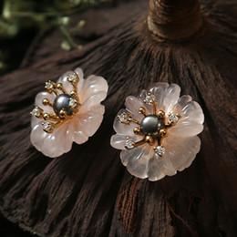 Promotion Boucles D Oreilles Fleur Rose Noire Vente Boucles D