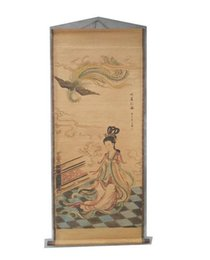 2019 pinturas de phoenix Antiguidades, pinturas, antiguidades, antigas pinturas chinesas, pinturas, sala de estar, escritório, soprando, fênix, figuras decorativas, callig pinturas de phoenix barato