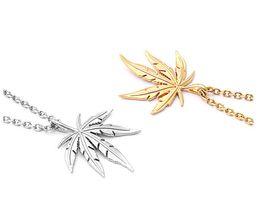 Canada Vintage Leaf Designer Collier Glacé Chaînes Femmes Hommes Collier Hip Hop Colliers Personnalité Bijoux Meilleure Qualité supplier icing leaf Offre