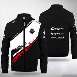 zip suits Coupons - Customize ID Game  CSGO COD G2 Esports Team Gaming suit long sleeve harajuku Sweatshirt G2 Team Gaming Uniform zip jacket