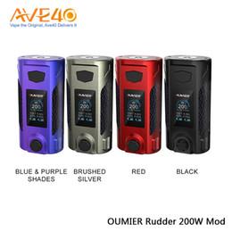 Grandes mods de bateria on-line-OUMIER Leme 200 W Mod Alimentado por Dupla 18650 Baterias Mod Com Grande Tela OLED 510 Conector 100% Original