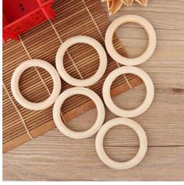 Hölzerne handwerksringe online-5 stücke 70mm Baby Holz Beißringe Halskette Armband DIY Handwerk Natürliche Neue DIY Handwerk