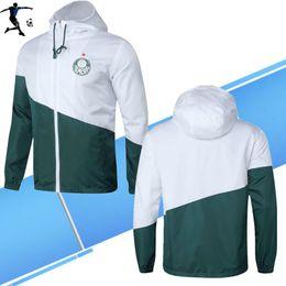 Camisa de vento on-line-2019 Palmeiras DUDU BORJA Sport Coat agasalho Soccer Jersey Windcoat 19 20 ALECSANDRO Jaqueta esporte united UtD jaqueta de futebol