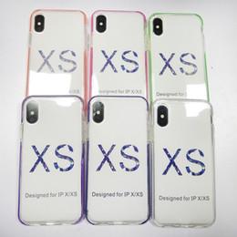 Casi chiari del telefono delle cellule del silicone online-2019 Nuovo TPU Custodia morbida Custodia in silicone trasparente TPU Cover posteriore con cornice colorata per Iphone 6 6s plus 7 8 plus X XS XR XS MAX