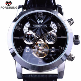 multi-display-uhren Rabatt Forsining 5 Hände Tourbillon Fashion Wave-Design Multi-Funktions-Display-Mann-Uhr-Spitzenmarken Luxus Automatik Uhr Uhr Dial