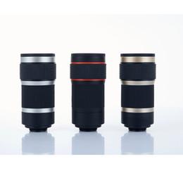 8-fach Zoom Mobile Monocular Telescope Kameraobjektiv Mini Universal Optical Clip Telephoto Schwarz für Telefonzubehör von Fabrikanten