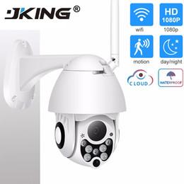 2019 hd cámara poros de cable exterior de vigilancia IP WiFi de la cámara de 2MP 1080P Wireless PTZ Speed Dome CCTV IR de Onvif cámara de seguridad exterior cámara IP Camara