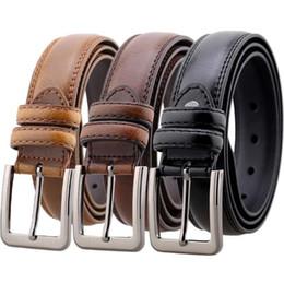 cinturones de damas formales Rebajas 20 Estilo Para Hombre Cinturón de Moda Gran Pin Hebilla Cinturones de Cintura de Las Señoras de Alta Calidad de Cuero de Negocios Caballeros de Caballero