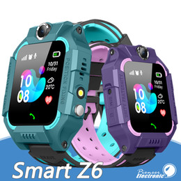 Smartwatch sos онлайн-Z6 дети Bluetooth Smart Watch IP67 водонепроницаемый SIM-карты LBS Tracker SOS дети Smartwatch для iPhone Android смартфон