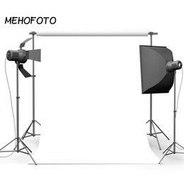 Сплошной фон онлайн-MEHOFOTO White Solid Color Photography Backgrounds for Studio Portrait Backdrop Photobooth Art Fabric Video Product Photographic