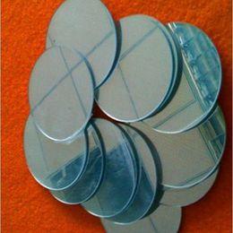 2019 folhas de plástico redondas (500pcs / lot) Espelho acrílico Folha redonda OD100x1mm Plástico Espelho PMMA Pier de vidro plástico decorativa Lens Home Improvement folhas de plástico redondas barato