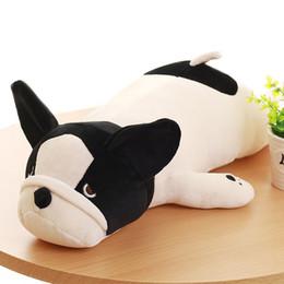 bambole francesi Sconti 50/65/85 cm super morbidi bulldog francesi giocattoli di peluche imbottiti in cotone carino bugiardo cane bambola cuscini cuscini bambini ragazze regali