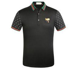 Canada 19ss Nouveau designer polo t-shirt Mode d'été broderie Bee High street hommes casual t-shirt à manches courtes Offre