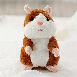 2019 muñeca barbie china 16 cm Encantador Hablar Hamster Hablar 3 Colores Hablar Sonido Registro Repetir Relleno de Felpa Animal Kawaii Hamster Juguetes Juguetes para niños DHL SS151