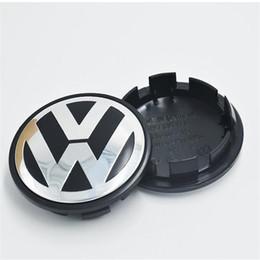 2019 centros de tapa de rueda 65 mm del centro de rueda de VW Caps insignia Etiqueta para el coche VW New mayorista rebajas centros de tapa de rueda