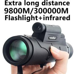 дальний фонарь Скидка Удлиненная 9800M / 300000M компас Фонарик инфракрасный Расстояние ночного видения High Angle Монокуляр телескоп Лазерный Открытый Портативный телескоп