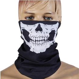 Halloween effrayant masque Festival Crâne Masques Squelette En Plein Air Moto Vélo Multi Masques Écharpe Demi Visage Masque Cap Chapeau Fantôme ? partir de fabricateur