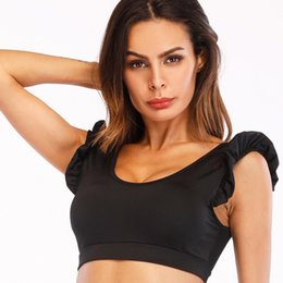 6b4d32835b9a0 2019 New Sports Top Push Up Bra High Impact Yoga Padded Fitness Women Tank Top  Running Brassiere Fitness Store Girl Wear Male Clothing