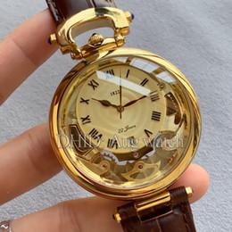 1822 Роскошные часы Gold Watch Classic Limited Editon мужские женские часы Механические автоматические наручные часы с кожаным ремешком Montre de luxe R401 от