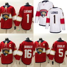 2019 Florida Panthers Newest Hockey 1 Roberto Luongo 16 Aleksander Barkov 5  Aaron Ekblad Red White Hockey Jerseys cc5acc640
