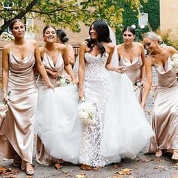 Vestidos de dama de honra de champanhe de seda on-line-Hot Cinza Longo Lace Da Dama de Honra Vestidos Sem Encosto MermaidMaid de Vestidos de Honra Tradicional Africano 2017 Custom Made Árabe Vestidos BO6556
