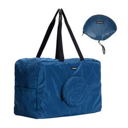 koreanische faltbare tasche Rabatt Koreanische faltbare Casual Travel Big Bag Damen Herren Tote Pack Wasserdichtes Gepäck Wochenende Duffle Kleidung Organizer Zubehör