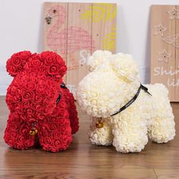 borse di fiori artificiali Sconti 1 PZ Rose Bear rose cane Stampo FAI DA TE Fiore Artificiale Orso di Plastica Rose Luck Dog Mould Modello Accessori Borsa