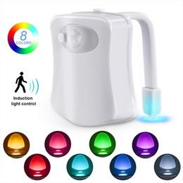 BRELONG Toilette Nachtlicht LED Lampe Smart Badezimmer Human Motion Activated PIR 8 Farben Automatische RGB Hintergrundbeleuchtung für Toilettenschüssel Lichter von Fabrikanten