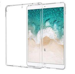 2019 cobre mini silicone comprimido 2018 silicone case para ipad pro 11 polegadas 12.9 9.7 limpar transparente case macio tpu tampa traseira tablet case para ipad 2 3 4 5 6 ar 1 mini cobre mini silicone comprimido barato