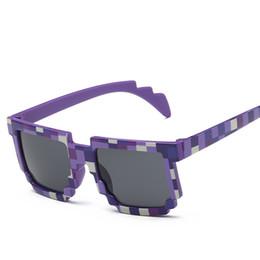 a7b948a85 Meninos crianças Quadrado Grade de Impressão Óculos De Sol 5 cores coloridas  ao ar livre viajar praia Camuflagem crianças proteção para os olhos  acessórios ...