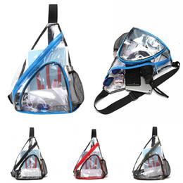 Sacchi universitari donne universali online-2019 New Style PVC trasparente impermeabile Casual Cross-corpo Bag per la spalla donne degli uomini sacchetto della cassa Moda Sport Viaggi Messenger Bag M122Y