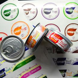 2019 aluminiumrohre flaschen großhandel 16 Flavors SmartBud Maschine Sealed Blechdosen 3,5 Gramm Smart-Knospe Glas Tank trocken herb Blume Verpackung mit 15 Flavor Aufkleber Lable6