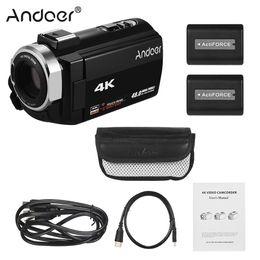 batteries de vision nocturne Promotion Andoer Portable 4K HD Caméscope numérique Caméscope DV 3