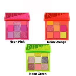 Cores de néon rosa on-line-New Maquiagem Eye néon obsessões Paleta de beleza de néon Verde Laranja Rosa Paleta Obsessões 9 cores Shimmer Shinning Matte Olho Shad