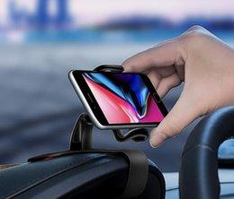 gps air mount Promotion Support de téléphone universel pour voiture réglable pour tableau de bord Clip pour téléphone intelligent Smart Phone GPS Support pour iphone XR XS MAX 7 8 S10 aimant