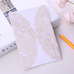 2019 cumprimentos do dia de mães convites de casamento corte a laser cartões de convites de casamento convites de casamento chinês cartões de flores com etiquetas Dentro e Envelope