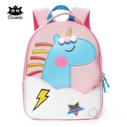 mochilas de chicas elefantes Rebajas Cocomilo Cartoon Kids School Bag 3D Unicorn Elephant Design Kindergarten Baby Girl Boy Mochila de hombro Niño Mochil Escolar