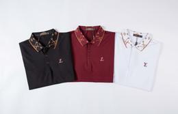 2019 conception de broderie de vêtements Polo manches courtes t-shirt brodé animalier abeilles Polo T-shirt pour hommes promotion conception de broderie de vêtements